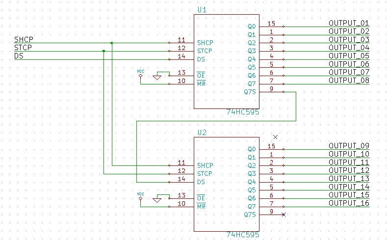 Schematic for 16 bit output